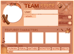 Art Fight 2020 Spice Template