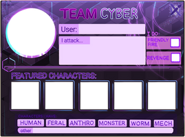 Art Fight 2021: Cyberpunk Template