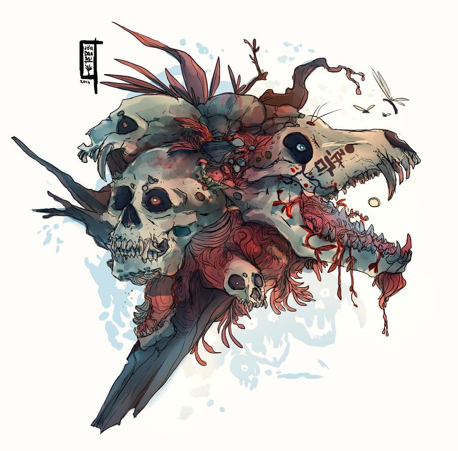 Skull forest by Sander-Morket