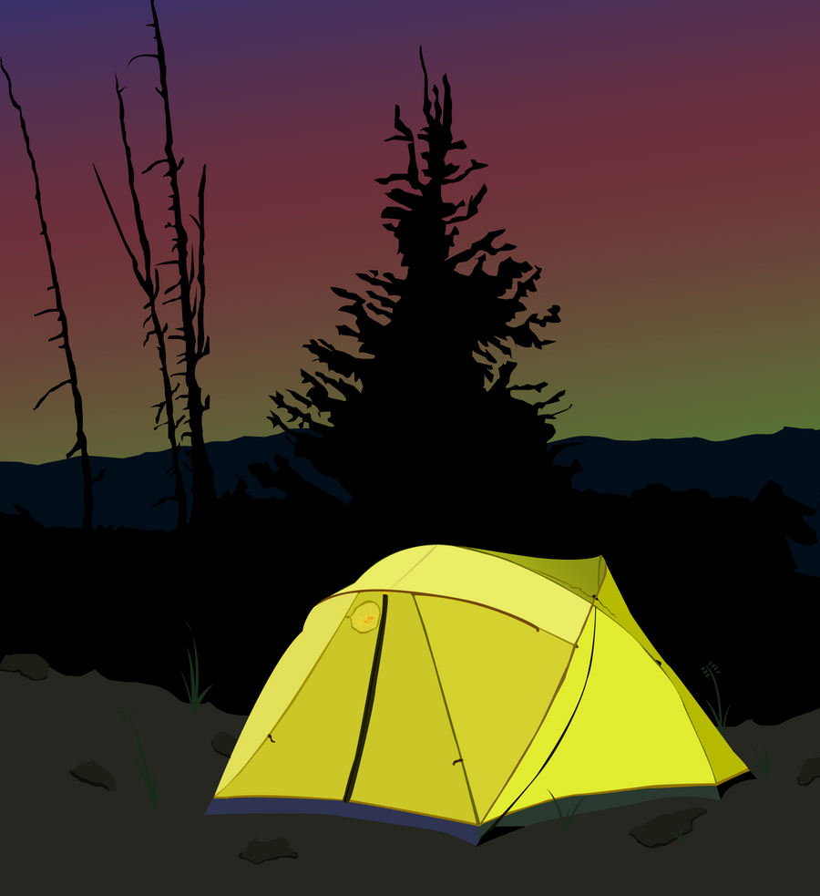 Camping Sunrise by BonesWolbach