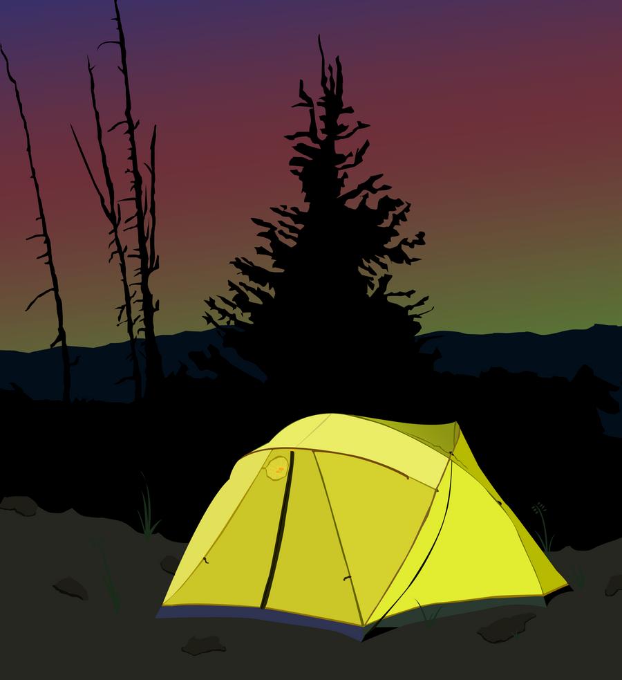 Camping Sunrise by BonesWolbach
