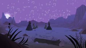 Tipi Desert Night