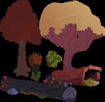 Trees / Greens 1 by BonesWolbach