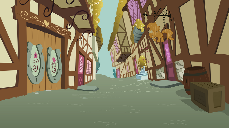 Ponyville Street 1 by BonesWolbach
