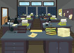 Newspaper Room Desk View
