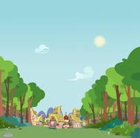 Outside Ponyville by BonesWolbach