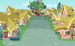 Ponyville Street View Towards Library