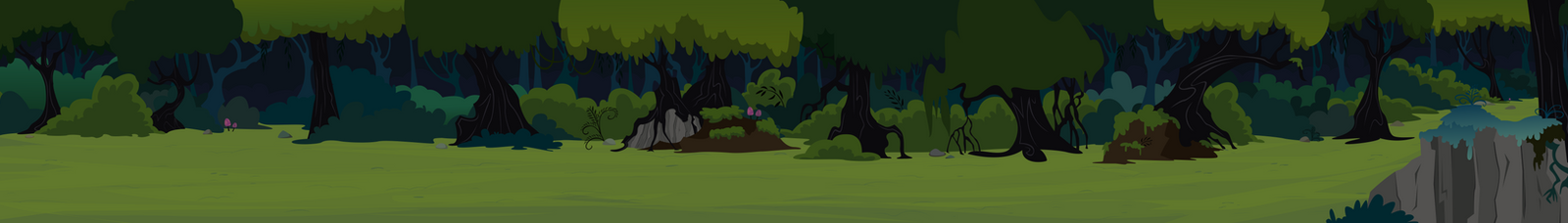 Everfree Forest Pan by BonesWolbach