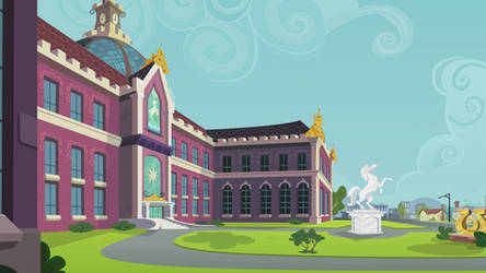 Canterlot High Outside - Angled