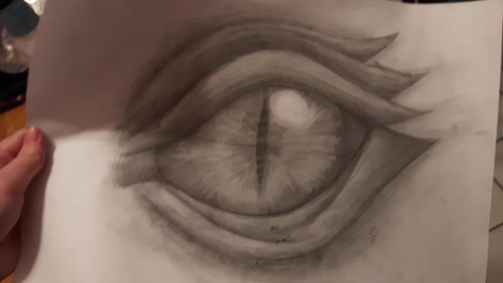 Art Class Dragon Eye by EmmetFlux310