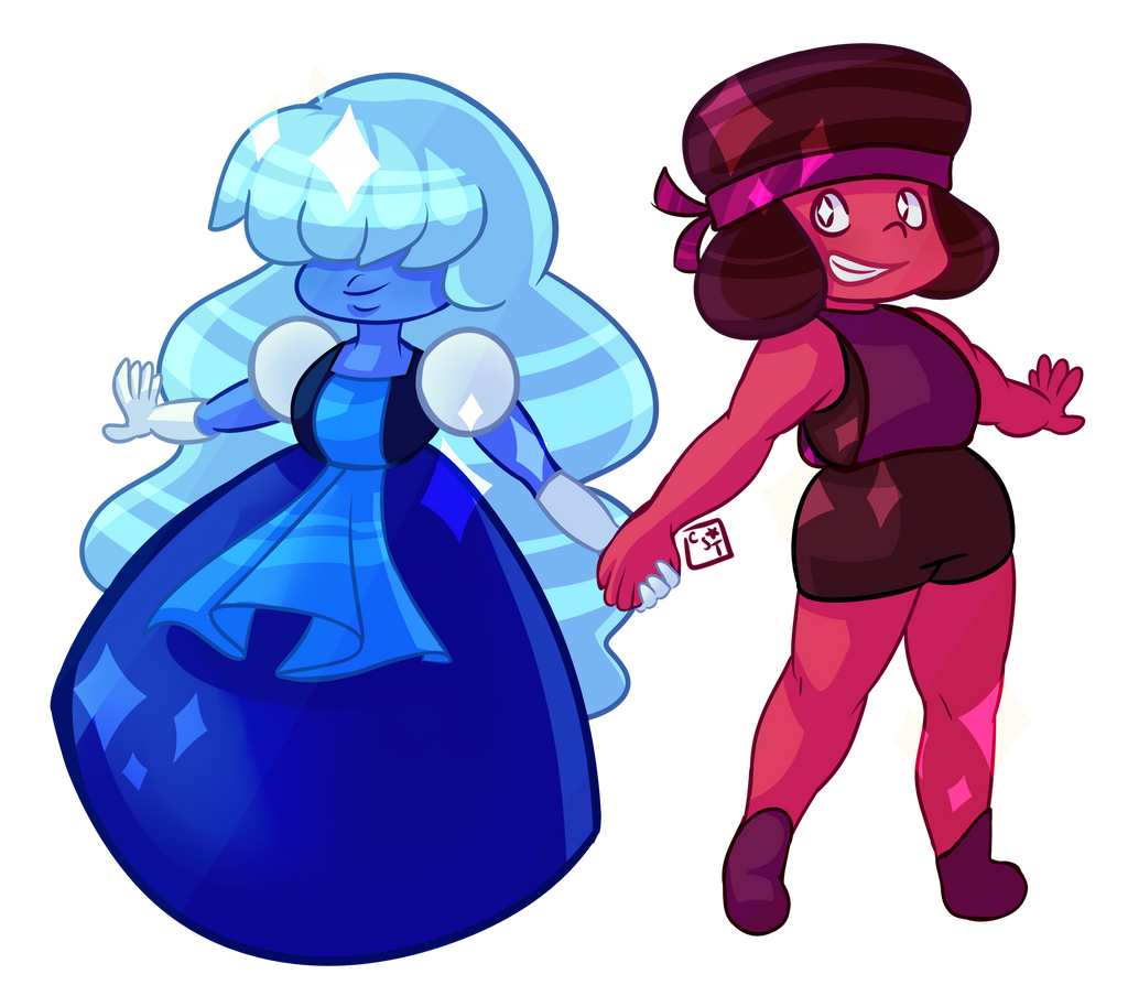 Ruby and sapphire by candystartrees on deviantart - Ruby and sapphire su ...