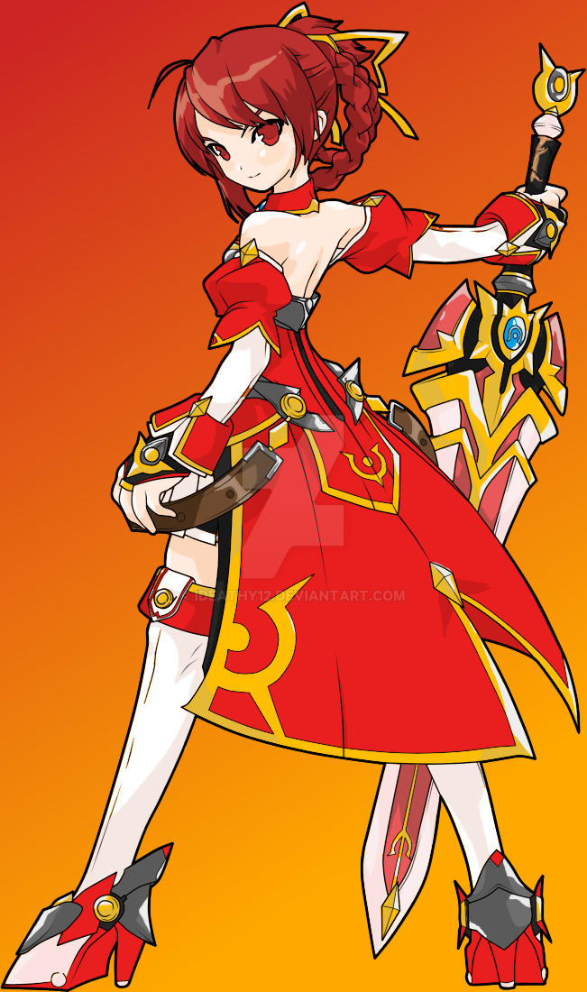 Elesis Line Art Colored by Ideathy12