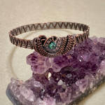 Turquoise and copper bangle bracelet  by MisDmeanor