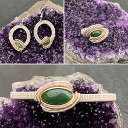 Canadian Jade Jewelry Set