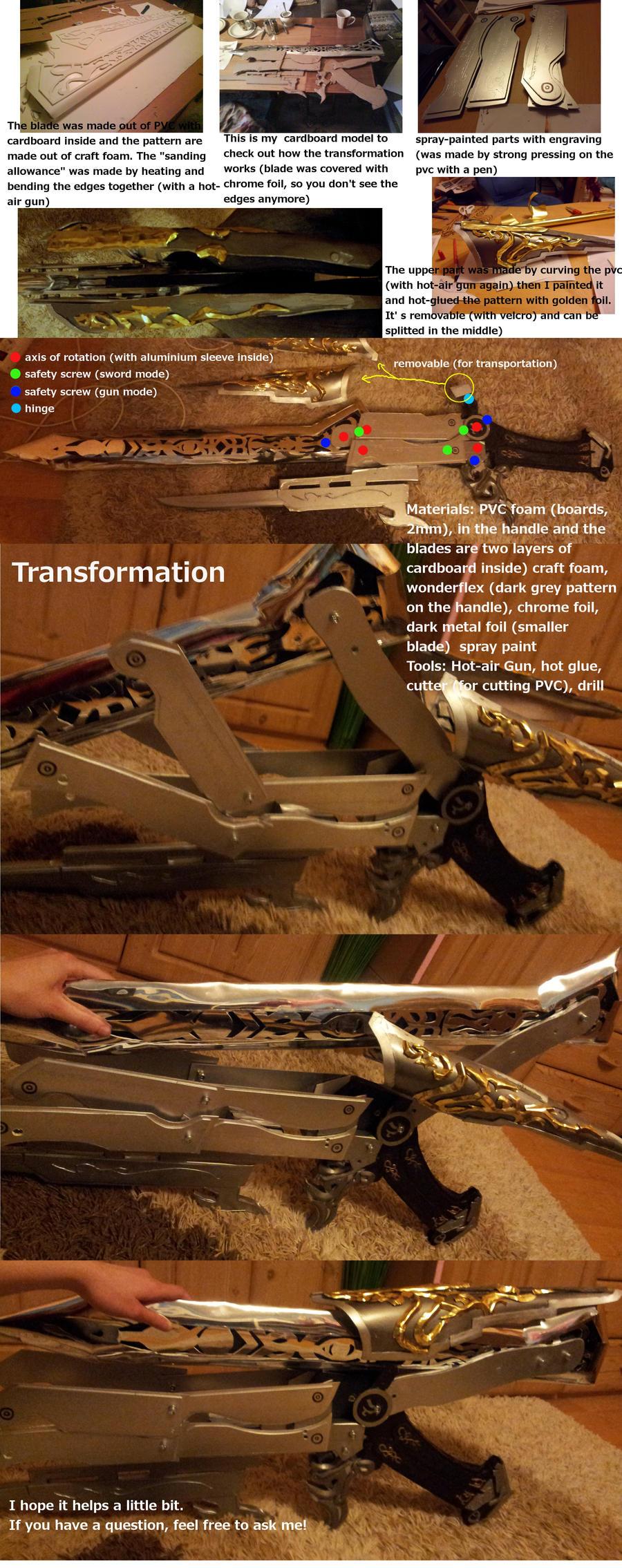 Gunblade WIP (tutorial) + Transformation by Zwielichtodin