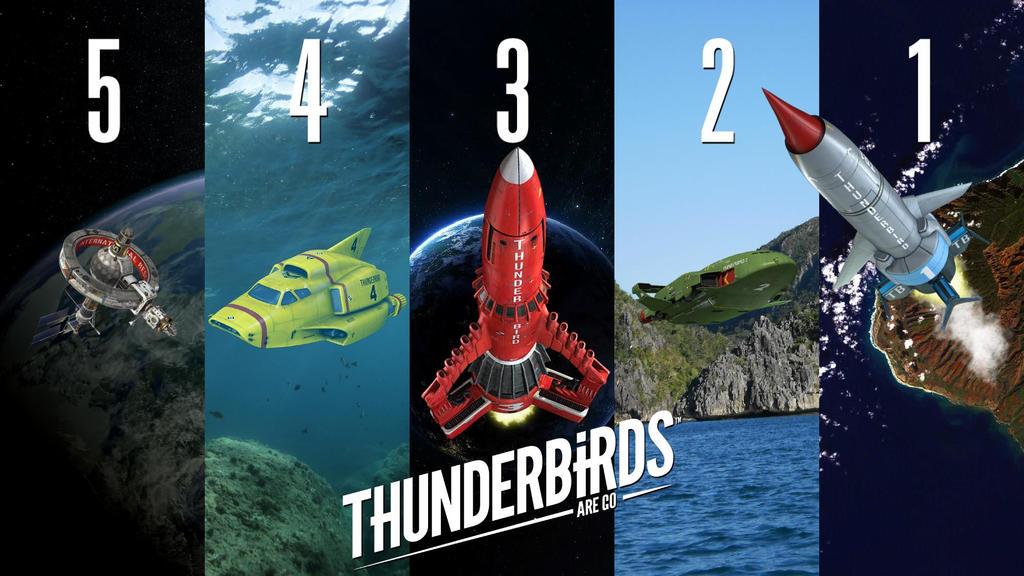 ThunderBirds Are Go Vehicle Countdown by MrWonderWorks
