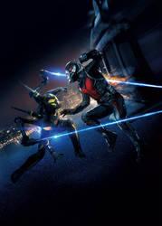 Yellowjacket Vs. Ant-Man by MrWonderWorks