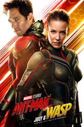 Ant-Man And The Wasp's Helmetless Poster by MrWonderWorks