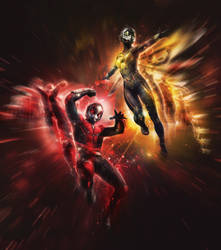 Ant-Man And The Wasp Are Shrinking It Up by MrWonderWorks