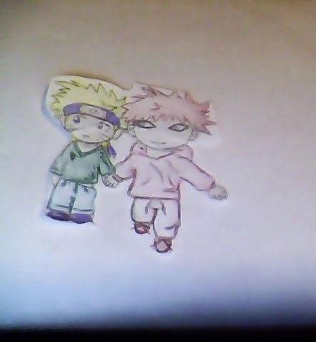 gaara and naruto as kids? yup by princedany on DeviantArt Gaara And Naruto Kids