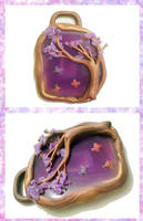 Enchanted Forest Pendant by FelineArtisan