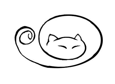 Sleeping Cat Tattoo by FelineArtisan