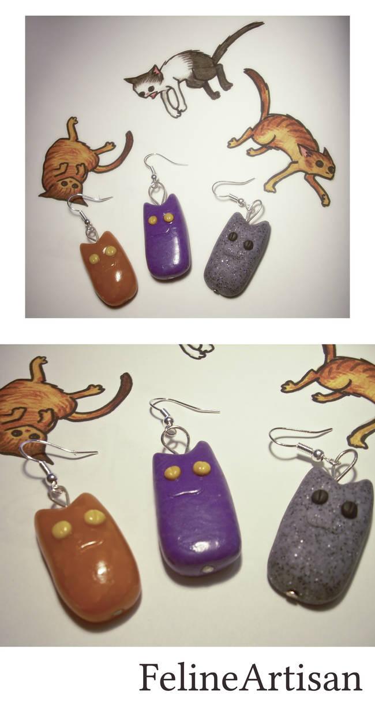 Chubby Cat Earrings
