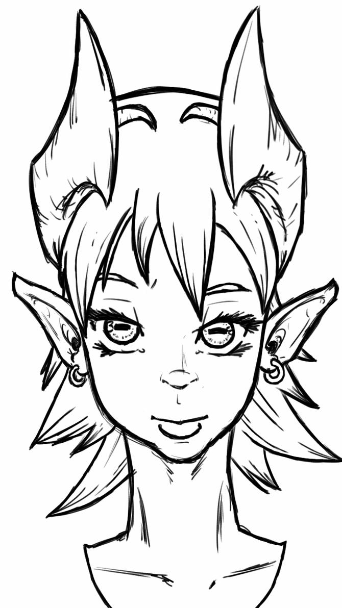 Dragon girl bust by fwrussell