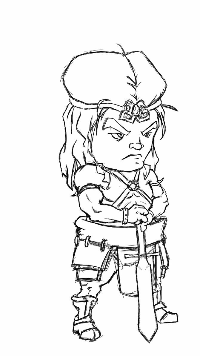 Conan chibi  by fwrussell