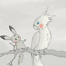 Birdseed in grayscale  by fwrussell