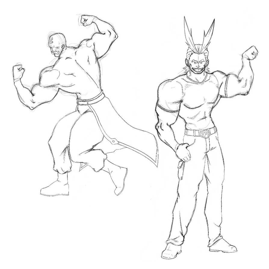 Major Armstrong and All Might pose-off by fwrussell