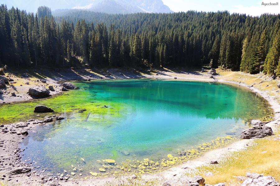 Hidden Lake by Ayechanit