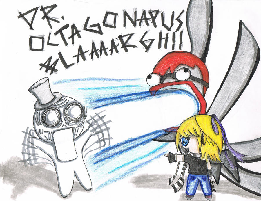 me and dr octagonapus vs troll by e star99 on deviantart