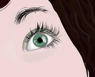 Behind green eye by sakenplet