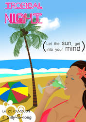 Poster Tropical Night by sakenplet