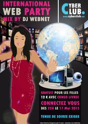 Poster International Web Party by sakenplet