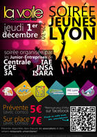 Poster 'Jeunes Lyon' Party by sakenplet
