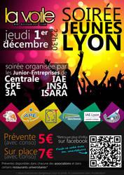Poster 'Jeunes Lyon' Party by sakenplet