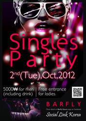 Poster Singles Party @Seoul by sakenplet