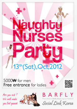 Poster Naughty Nurses Party @Seoul