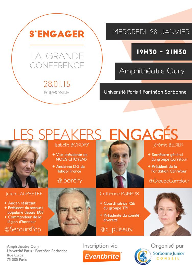 Poster Sorbonne Junior Conseil - Conference by sakenplet