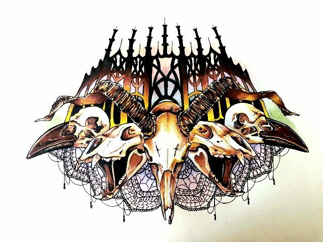 Animal Skull Chestpiece by upperdecker