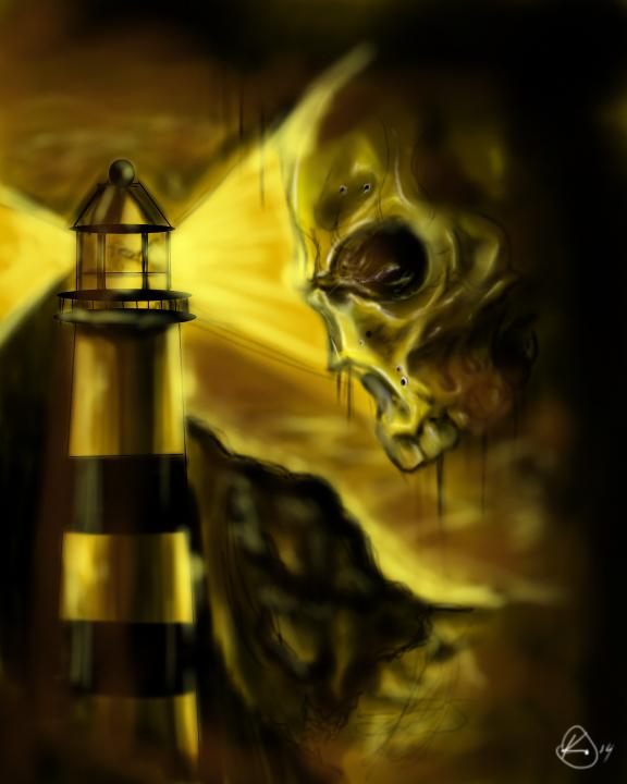 Skull on the horizon by upperdecker
