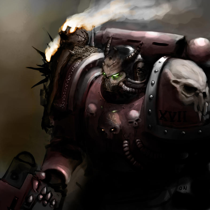 [W40K] Illustrations du Chaos Lorgar__s_Faithful__Khalgath_by_Nalro