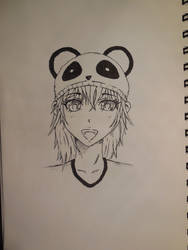 Panda girl portrait