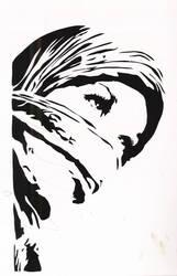 Hijab Girl Stencil