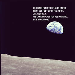 Neil Armstrong. Hero. by entallat