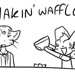 MAKIN' WAFFLES by Princess-Hanners