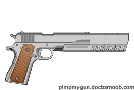1911 long barrel silver by bobafettdk
