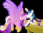 [Princess Cadence, Shining Armor] - Balcony kiss
